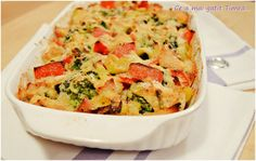Broccoli cu piept de pui la cuptor Avocado Salad Recipes, Quiche, Broccoli, Cookie Recipes, Macaroni And Cheese, Food And Drink, Chicken, Cooking, Breakfast