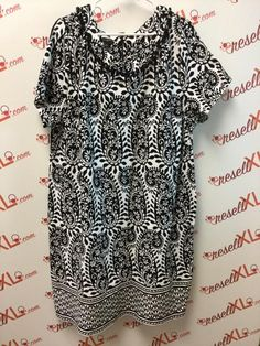 c840f3c8599 Talbots Size 3X Black and White Paisley Dress