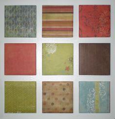 wallpaper or scrapbook paper squares