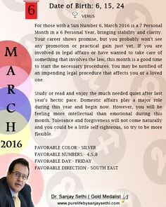#Numerology‬ #monthly predictions for March'16 by Dr.Sanjay Sethi-Gold Medalist and World's No.1 #AstroNumerologist.
