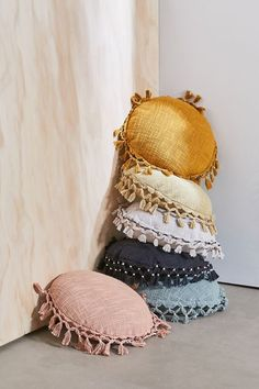 Gemma Fringed Round Throw Pillow - Shop Gemma Fringed Round Throw Pillow at Urban Outfitters today. Discover more selections just like - Diy Pillows, Floor Pillows, Decorative Pillows, Throw Pillows, Urban Outfitters, Moroccan Decor Living Room, Moroccan Furniture, Round Pillow, Bolster Pillow