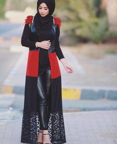 Muslimah fashion & hijab style for 2016 Abaya Fashion, Fashion Line, Fashion 2020, Modest Fashion, Fashion Outfits, Turkish Hijab Style, Turkish Fashion, Islamic Fashion, Dubai Fashionista