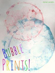 Kids' Bubble Painting Art Activity