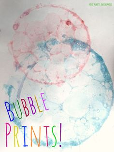 Kids' Bubble Painting Art Activity