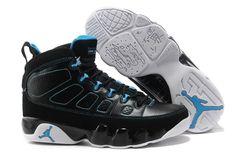 29073184f38 Air Jordan 9 Retro Black Photo Blue-White For Sale