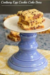 Cadbury Egg Cookie Cake Bars by PIcky Palate www.picky-palate.com