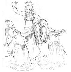 AF11 - Marvashs Turkish-Arab Vest Pattern (Belly Dance) via Etsy