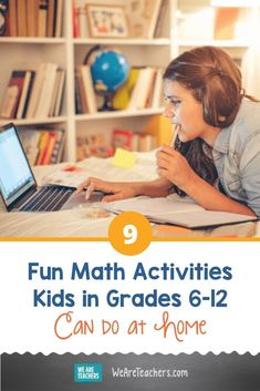 9 Fun Math Activities Kids in Grades Can Do at Home. LONG + LIVE + MATH At Home is a free, curated collection of fun math activities that motivates students in grades to do math at home. Teaching Math, Maths, Math Math, Math Fractions, Math Class, Multiplication, Teaching Tools, Math Football, Math Tutorials