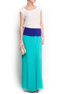 Two color long skirt Mango