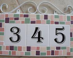 Número Para Casa Em Azulejo E Mosaico