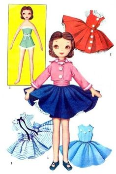 McCall 2097 - vintage Betsy McCall cloth doll pattern