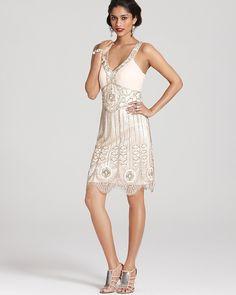 Sue Wong Dress - Beaded V Neck on shopstyle.com