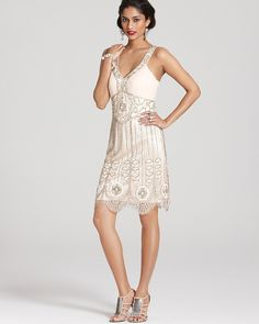 Sue Wong Dress - Beaded V Neck on shopstyle.com
