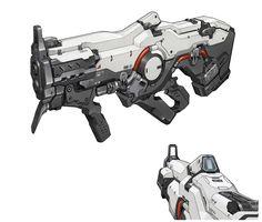 """""""Plasma rifle concept art made for DOOM. Sci Fi Weapons, Weapon Concept Art, Game Concept Art, Weapons Guns, Fantasy Weapons, Concept Art Gallery, Concept Art World, Armes Concept, Doom 4"""