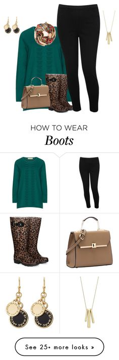 """plus size fall/winter boot and sweater style"" by kristie-payne on Polyvore featuring Isolde Roth, JJ Footwear, M&Co, Marc by Marc Jacobs and Lauren Ralph Lauren"