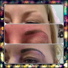 This was one of the 1st 5 sets of brows I did for my portfolio, just in getting a wee top up !!!