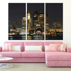 Boston Wall Art boston skyline print, boston wall art, boston watercolor grey