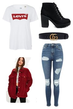 """""""Untitled #10"""" by sophiemo-1 on Polyvore featuring Topshop, Levi's, Gucci and Missguided"""