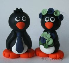 Penguin Wedding Cake Topper by fliepsiebieps1, via Flickr