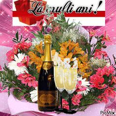 See the PicMix la multi ani belonging to on PicMix. La Multi Ani Gif, An Nou Fericit, Merry Christmas And Happy New Year, Happy Birthday, Thankful, Table Decorations, Simple, Creative, Champagne