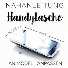 Nähanleitung Handytasche, Smartphonetasche nähen, Freebook, Schnittmuster Handytasche, Smartphonepouch pattern, Handytasche DIY,