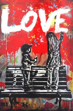 Street Art - One Love Graffiti 3d Street Art, Urban Street Art, Amazing Street Art, Street Art Graffiti, Street Artists, Urban Art, Amazing Art, Graffiti History, Graffiti Artwork