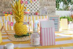 Party table at a Flamingo Pineapple Birthday via karaspartyideas.com
