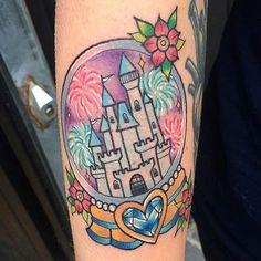 Disney Castle in snow globe