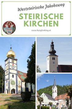 Der weststeirische Jakobsweg führt durch den Bezirk Voitsberg, der ca. 30 Auto-Minuten westlich von Graz liegt. Erreichbar mit dem Zug (Graz - Köflach) hier gibt es viele unterschiedliche Kirchen, hier findest Du Fotos der Kirchen aus Bärnbach (Barbara-Kirche, die durch Hundertwasser neue Farben bekommen hat und auch Hundertwasser-Kirche genannt wird), die Kirche in Piber (Bundestgestüt), die Kirche in Maria Lankowitz, Köflach und St. Johann am Kirchberg (ober Maria Lankowitz).