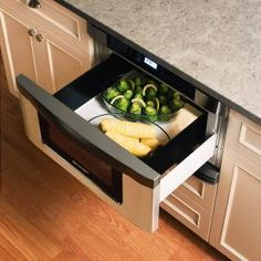 Absolute must for my next kitchen.  Microwave drawer.