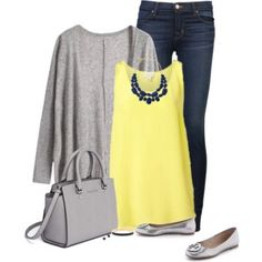Navy, Gray + Yellow