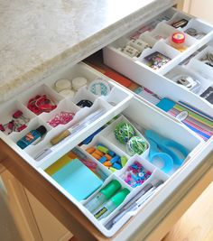 two tier drawer organizers from the Container Store