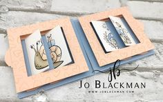 JoBlackman.com: Stamping INKspirations January Blog Hop - Something New... Creative Arts And Crafts, Creative Cards, Fancy Fold Cards, Folded Cards, Snail Cards, Interactive Cards, New Baby Cards, Card Tutorials, Kids Cards