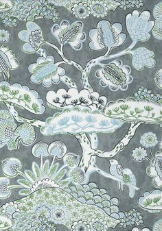 TREE HOUSE, Grey, AT9864, Collection Nara from Anna French Tree House Wallpaper, View Wallpaper, Wallpaper Ideas, Anna French, Matching Wallpaper, Japanese Architecture, Japanese Design, Watercolor Techniques, Nara