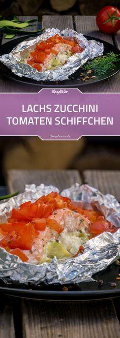 Lachs-Zucchini-Tomaten-Schiffchen Rezept vom Grill