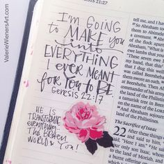 Hand lettering and a scrapbook sticker. A great combo for Bible journaling! Scripture Art, Bible Art, Bible Verses Quotes, Bible Scriptures, Book Quotes, Bible Verses About Beauty, Wisdom Quotes, Quotes Quotes, Journaling