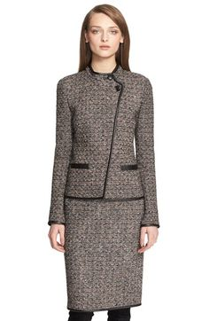 St. John Collection Sparkle Plissé Knit Jacket available at #Nordstrom