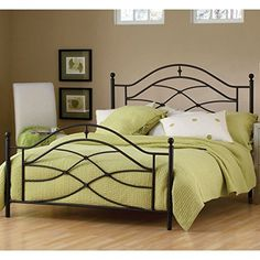 Hillsdale Furniture 1601BFR Cole Bed Set with Rails Full Black Twinkle -- See this great product. (This is an affiliate link)
