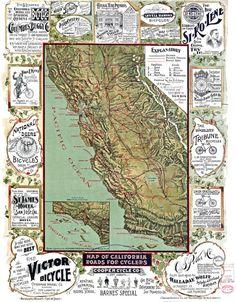 90 Best Vintage California Maps images