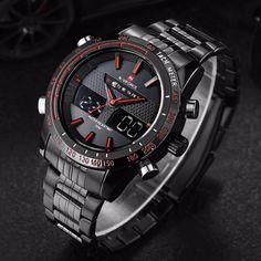 NAVIFORCE Assista Homens Luxo Marca Aço Inoxidável Analógico Digital Led esportes homens relógio de quartzo relógio à prova d' água relogio masculino em Relógios de quartzo de Relógios no AliExpress.com   Alibaba Group