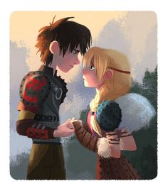 Hiccup and Astrid I How To Train Your Dragon 2 by chocosweete