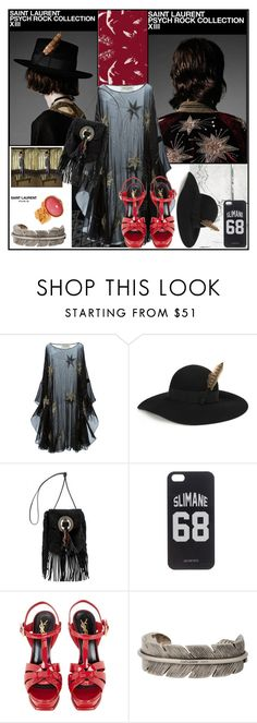 """The Love"" by sue-mes ❤ liked on Polyvore featuring Yves Saint Laurent, LES (ART)ISTS and Hedi Slimane"