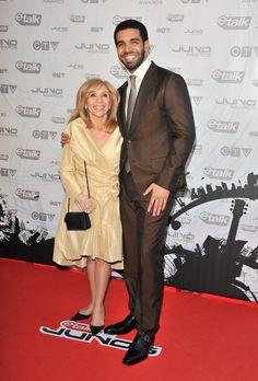 Drake bringing his mom as his red carpet date? Adorable.