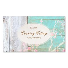 Country Vintage Shabby Rustic Wood Chic Boutique Business Card. This is a fully customizable business card and available on several paper types for your needs. You can upload your own image or use the image as is. Just click this template to get started!
