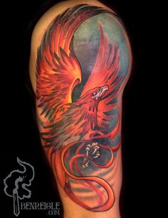 One of the best phoenix tattoos I've seen.