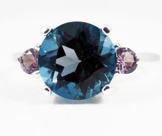 London Blue Topaz and Alexandrite Ring  Sterling by DreamyRings, $72.00