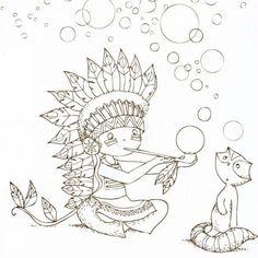 Cahier de coloriage Cap Canaille Eliott l'indien - 80 pages - Photo n°2