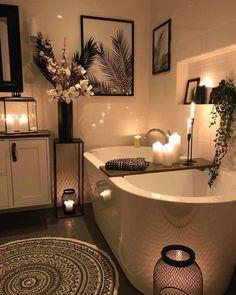 Zen Bathroom Decor, Bathroom Interior Design, Cozy Bathroom, Zen Home Decor, Master Bathroom, Bathroom Small, Bath Room Decor, Zen Bathroom Design, Cute Bathroom Ideas