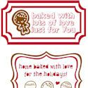 food labels, gifts labels