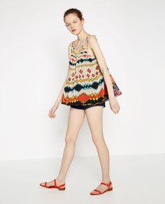 Image 1 of PRINTED FULL TOP from Zara